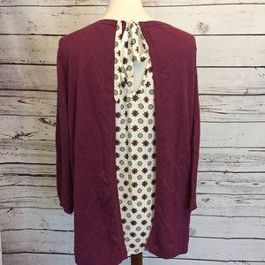 Loft XL split back Shirt Blouse